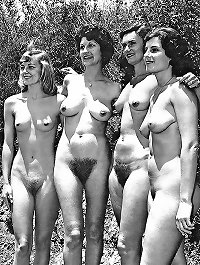 Retro nude hairy women
